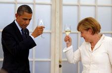 Brindis Obama-Merkel