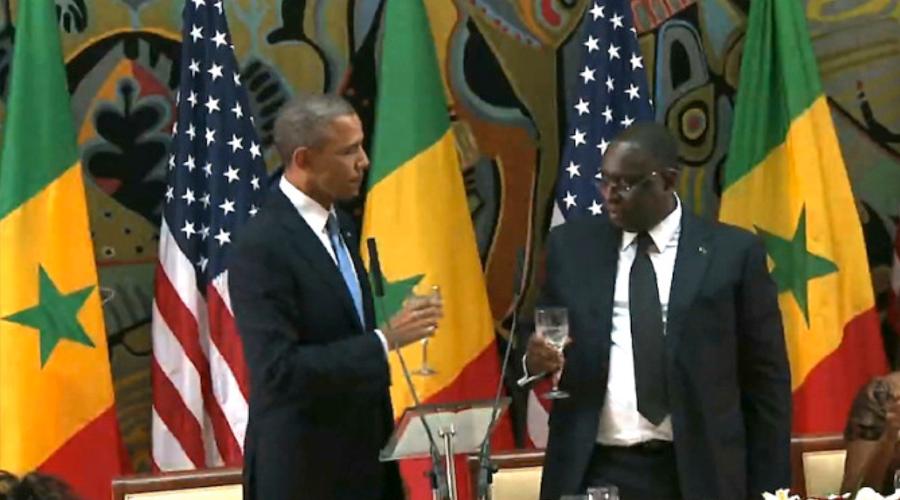 El presidente senegalés, Macky Sall y Obama