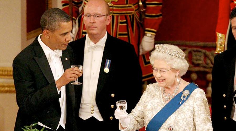 Obama y La Reina Isabel II