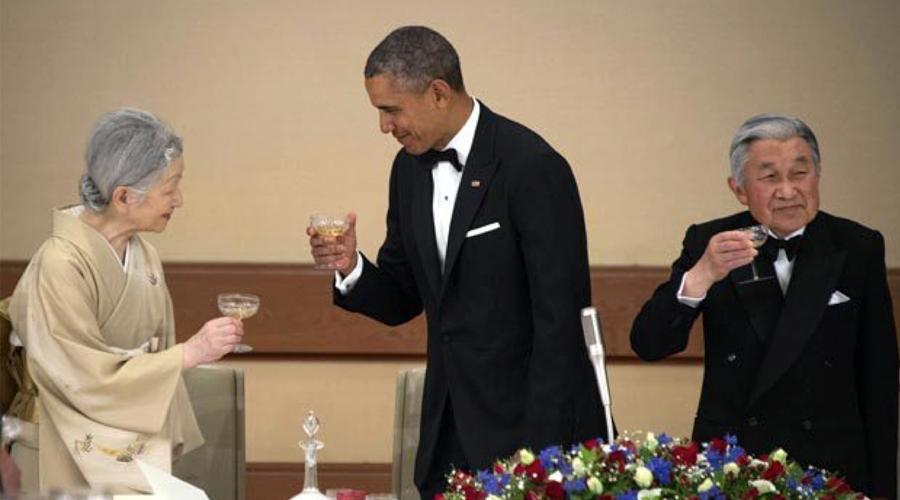 Obama y los emperadores de Japón