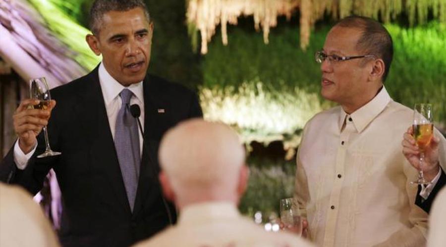 Obama y el presidente de Filipinas, Benigno Aquino III