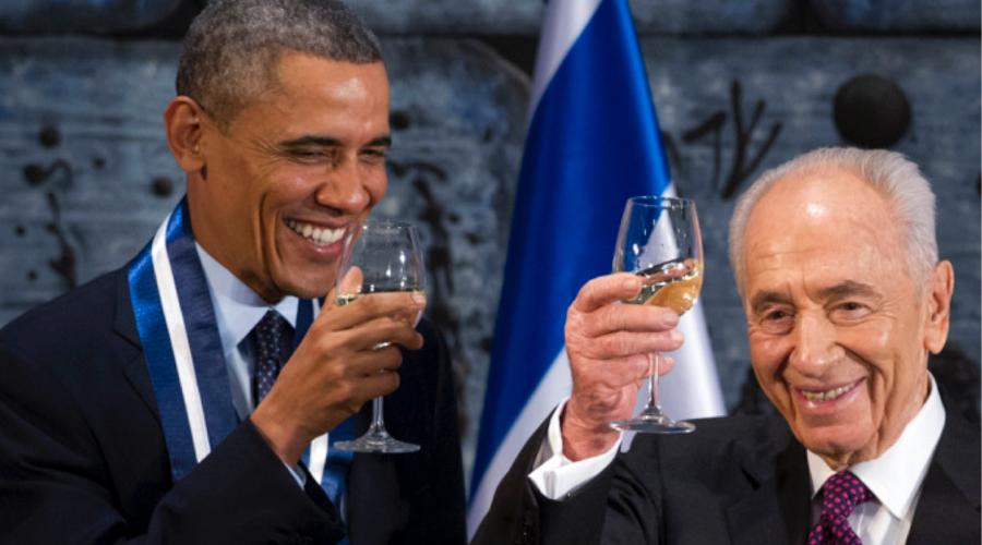 Obama y Simón Peres